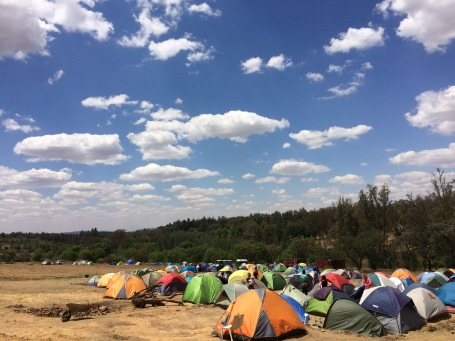 Tent City in Johannesburg